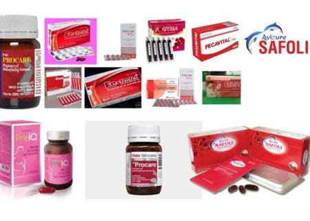 Các loại thuốc bổ sung sắt và axit folic phổ biến trên thị trường