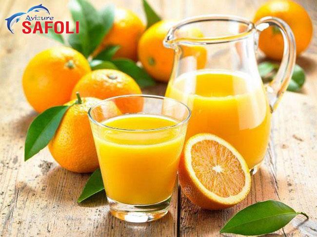 Uống sắt với nước cam để tăng hấp thu sắt