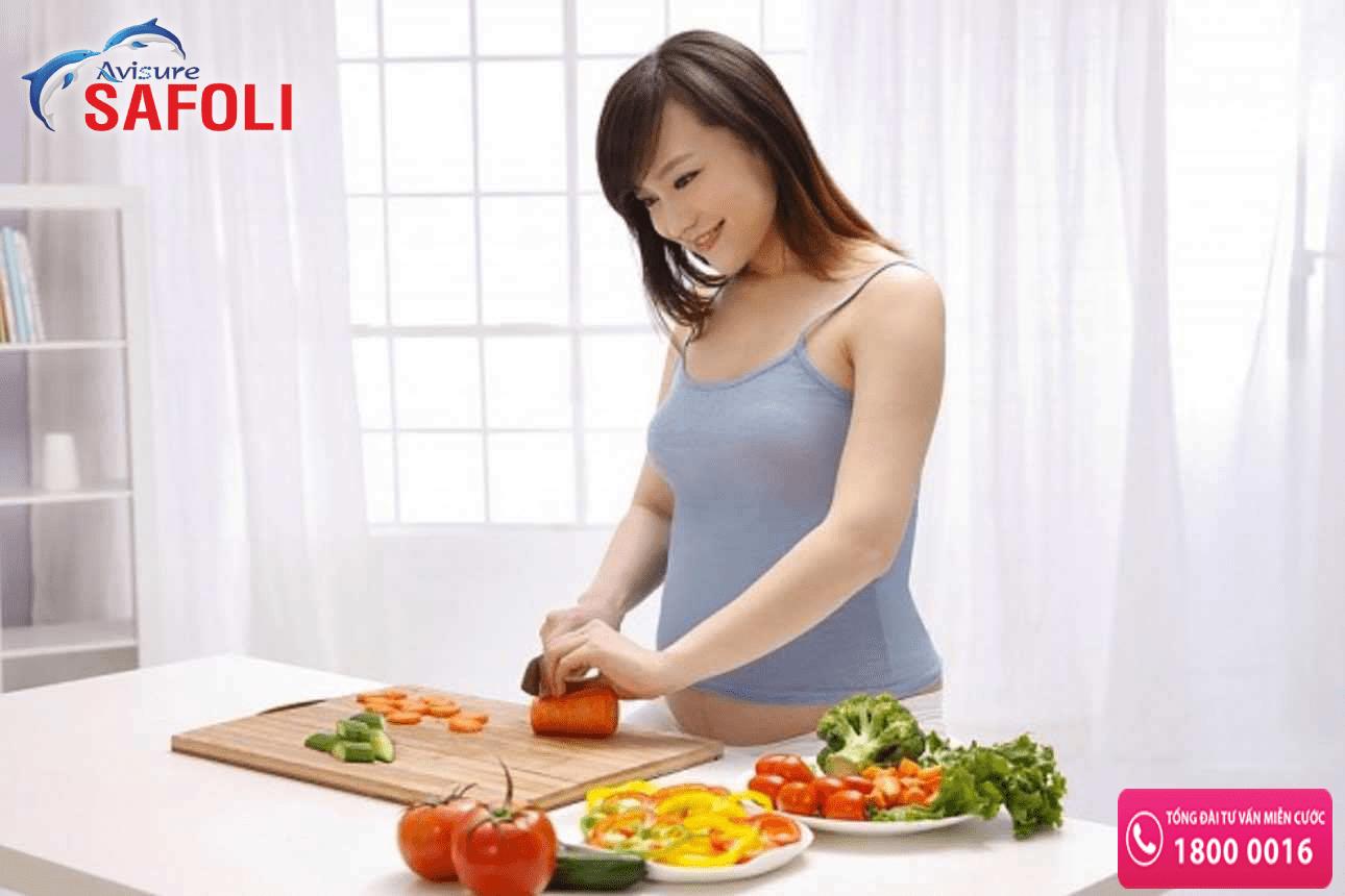 Một chế độ ăn hợp lý giúp cả mẹ và bé đều khỏe mạnh