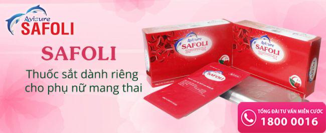 safoli là thuốc sắt hữu cơ cho bà bầu