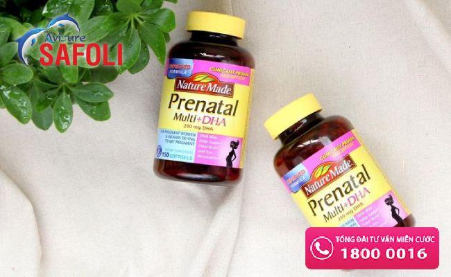 Vitamin tổng hợp chứa DHA Prenatal Naure made