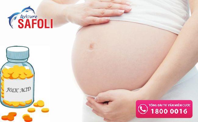 Uống axit folic đến khi sinh xong 1 vài tháng là tốt nhất