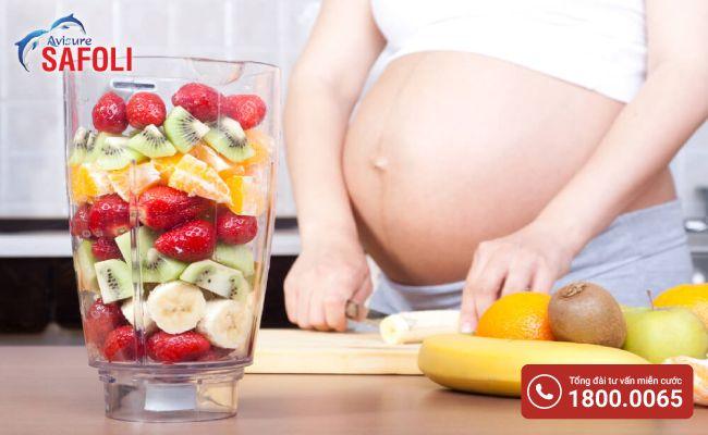 Bà bầu uống canxi cần ăn thêm nhiều rau củ